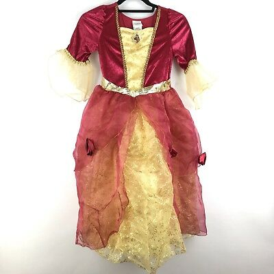 Disney Bambine Principessa Misura 10 la Bella e la Bestia Rosso Belle Costume