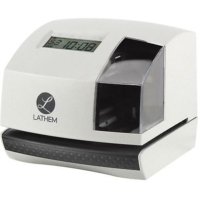 Lathem Time Clock And Document Stamp 6-310wx6-45dx5-35h Gybk 100e