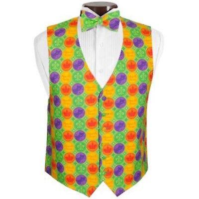Mardi Gras Vest (Mardi Gras Coins Vest and Bow Tie Size)
