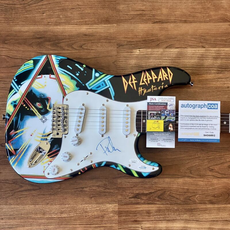 PHIL COLLEN Signed Guitar Custom 1/1 Graphics Def Leppard JSA COA!