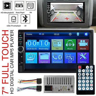 "7"" Double Car Radio Stereo MP5/ MP3 Player 2 Din Bluetooth FM AUX USB Head Units"