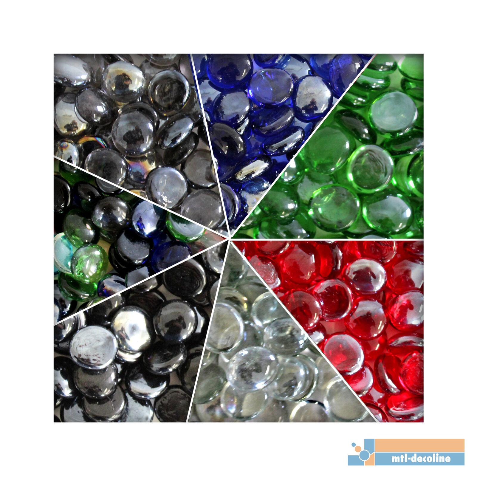 1 kg Glasnuggets Glassteine Muggelsteine Mosaiksteine Tischdeko 12/20mm