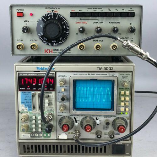1200A Krohn-Hite 0.2Hz to 3MHz Function Generator w/ Sweep & Voltage Control