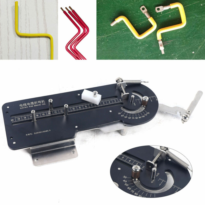 Manual Wire Cable Bending Machine Iron & Copper Wire Bender 30~120 Degrees Black