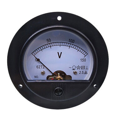 Us Stock Ac 0 150v Round Analog Volt Pointer Needle Panel Meter Voltmeter
