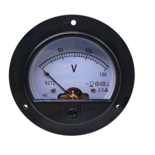 US Stock AC 0 ~ 150V Round Analog Volt Pointer Needle Panel Meter Voltmeter