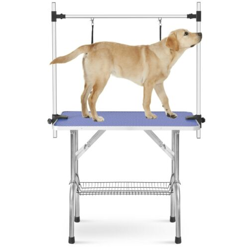 """Large Size 46"""" Grooming Table for Pet Dog and Cat with Adjustable Arm and Clamps"""