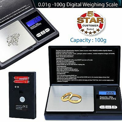 Small MINI Pocket Digital Electronic Weighing Weight Scale 0.01g – 100Gram UK