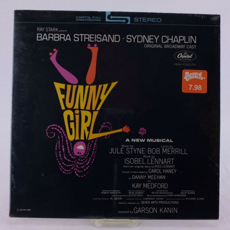 Funny Girl Broadway Cast Recording Factory Sealed LP STAO2059 Streisand 1964