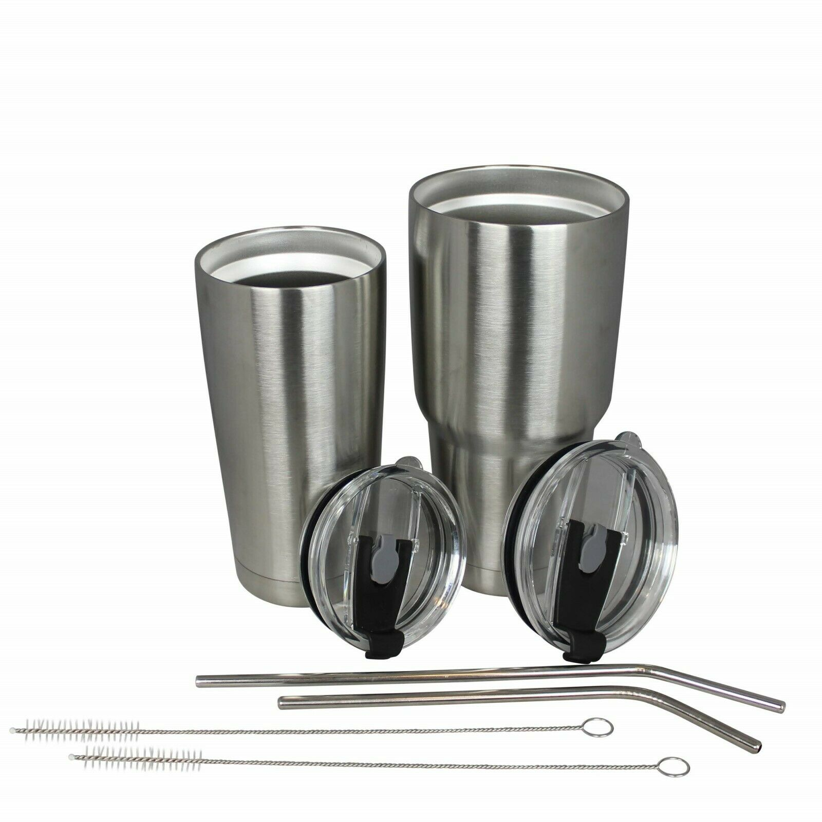 Vacuum Insulated Stainless Steel Tumbler, straw and spill pr