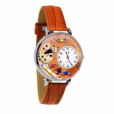 Whimsical Watches Unisex U0410002 Artist Tan Leather Watch