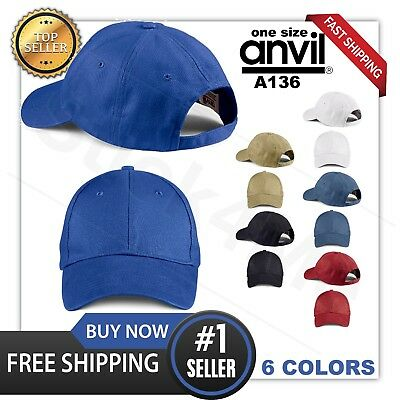 NEW Anvil Base Ball Hat Cap  SPORTS CASUAL Pigment-Dyed Twill Sandwich A136