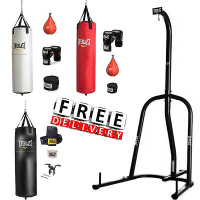 Boxing Equipment Free Stand 70Lbs Punching Heavy Bag Everlast MMA Kick Training
