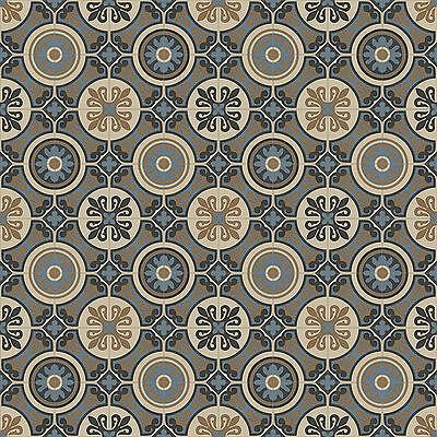 Non Slip Vinyl Flooring Lino Kitchen Baroque Lagos Retro