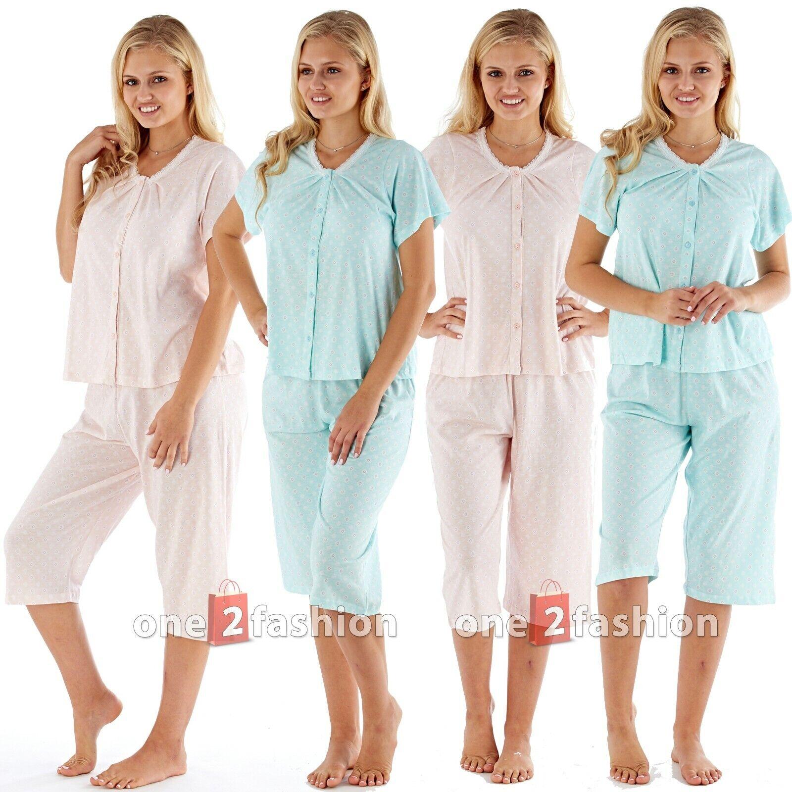Ladies 2 Piece Pyjamas Suit Set Cotton Summer Loungewear Nightwear pjs Womens