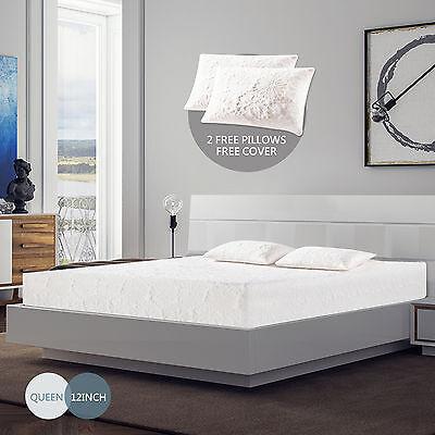 12 Inch Queen Size Memory Foam Bed Mattress Cool   Gel Medium Firm W Free Pillow