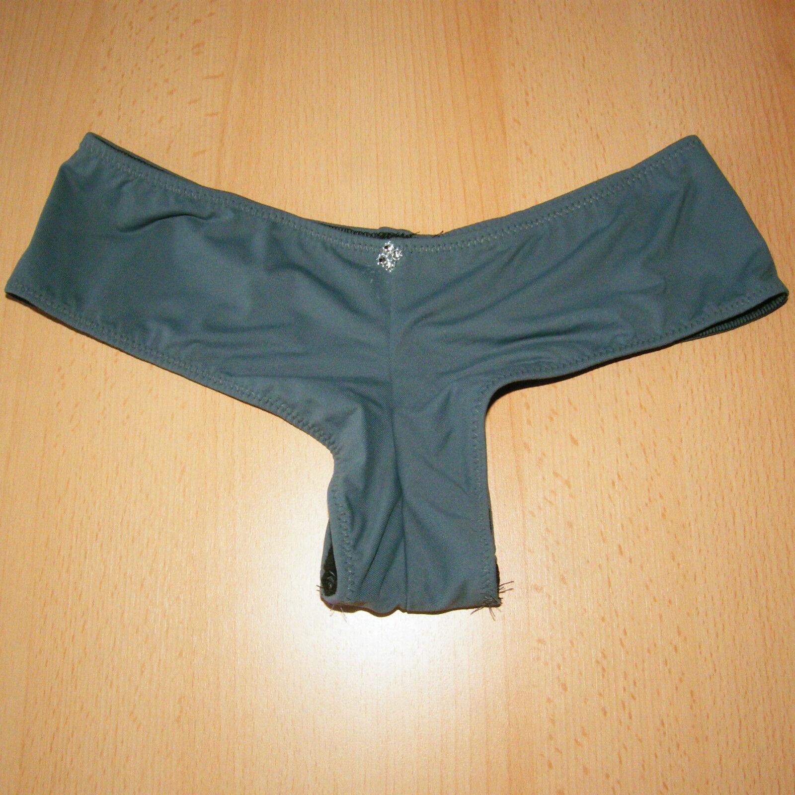 sexy Panty / Hipster mit hohem Po-Ausschnitt – uni1 – Gr. 36 38 40 42