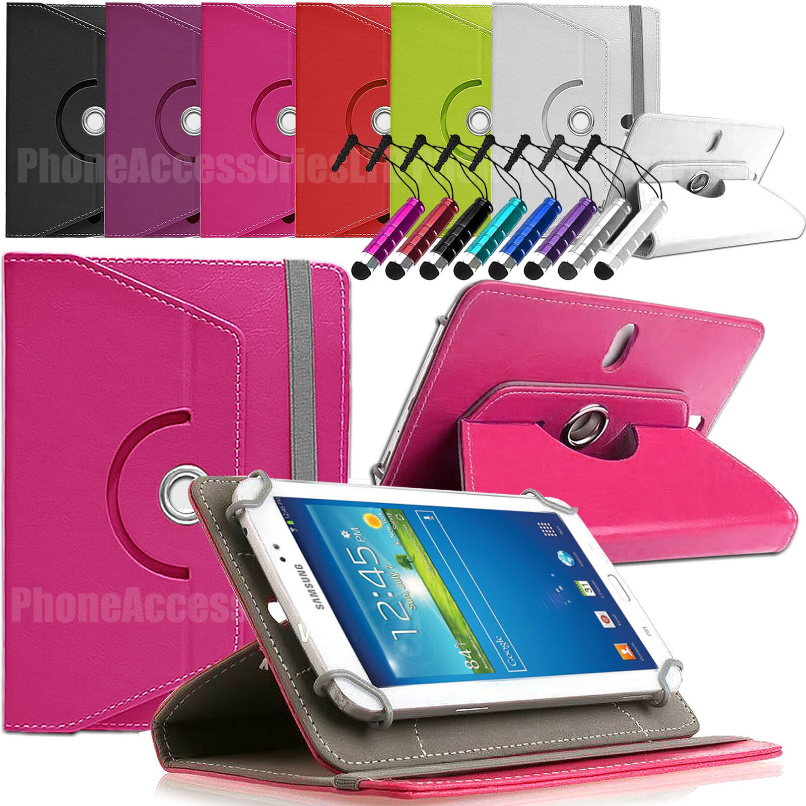 360 Rotating Leather Case Folio Cover For Archos Android