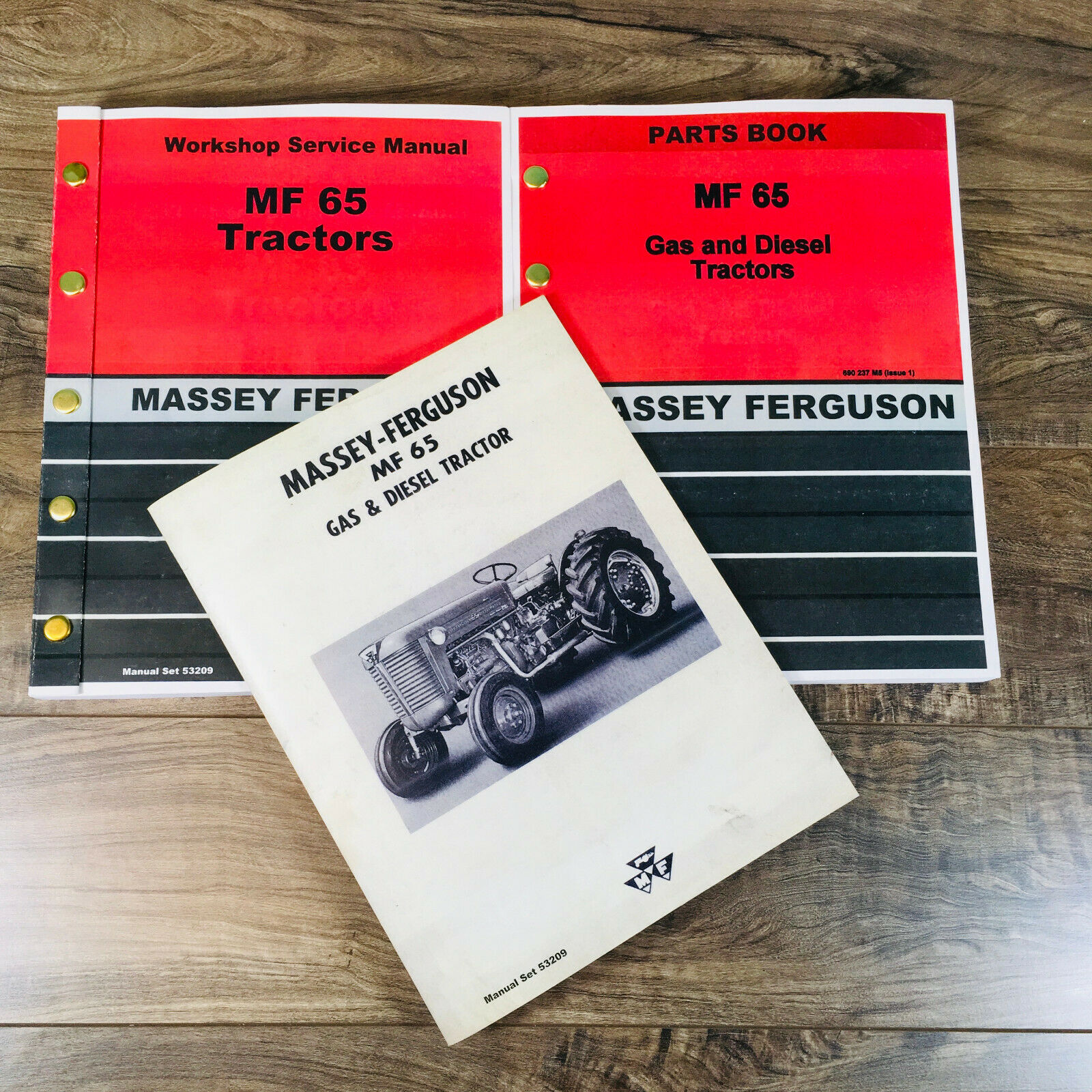 Set Massey Ferguson 65 Tractor Service Parts Catalog Operators Manual Shop Book Ebay