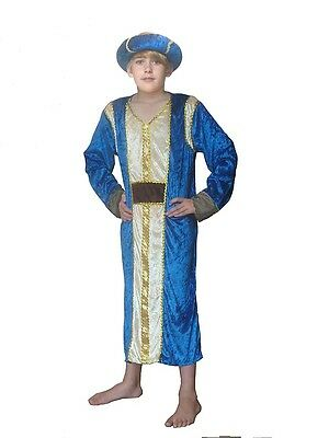 KING CASPER WISE MAN THREE KINGS CHILDRENS FANCY DRESS COSTUME NATIVITY INC - Childrens King Costume Nativity