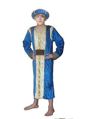 KING CASPER WISE MAN THREE KINGS CHILDRENS FANCY DRESS COSTUME NATIVITY INC XL (Childrens King Costume Nativity)