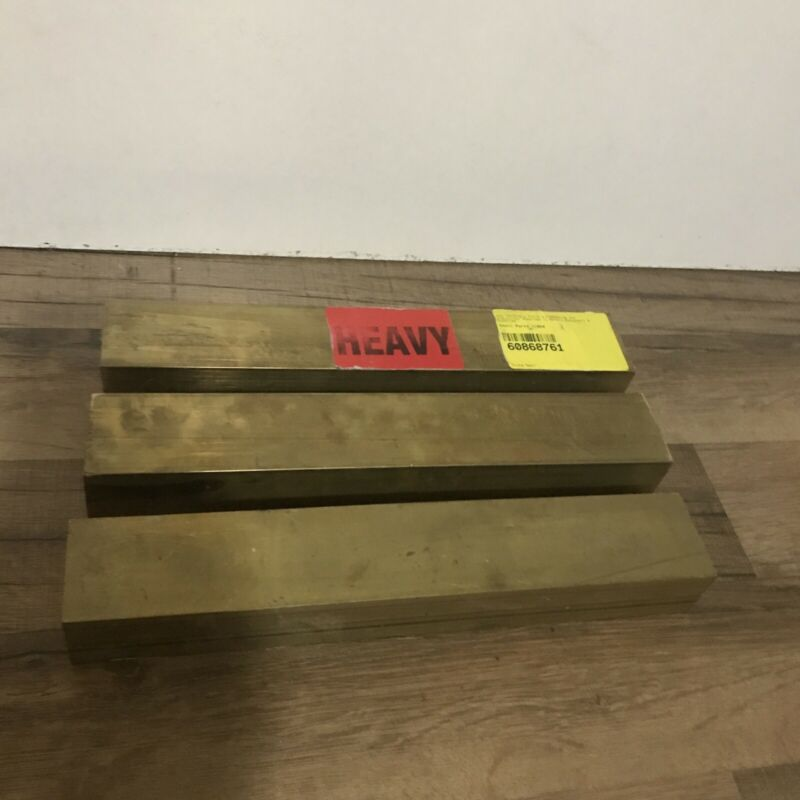 "(3) 360 Brass Bar Stock Unpolished H02 ASTM B16 1.5"" X 2"" X 12"""