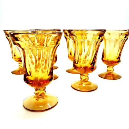 Vintage Fostoria Jamestown Amber Juice Glasses Set of 7