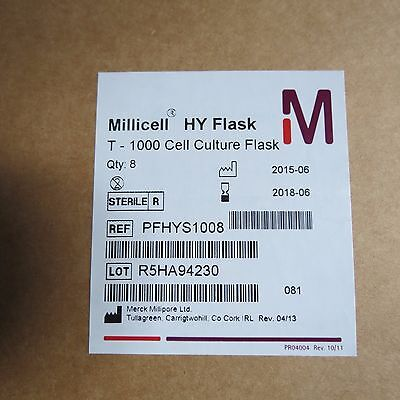 Case 8 Millicell Hy 5-layer Cell Culture Flasks T-1000 Pfhys1008