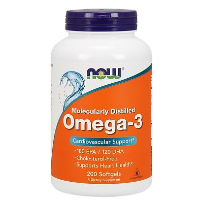 NOW Foods Omega 3, 1000 mg, 200 Softgels
