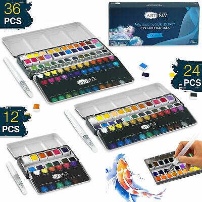 Aquarellfarben Farben Aquarell Set Kalligraphie Farbtöne Malkasten Näpfchen