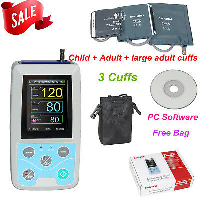 Abpm50 Ambulatory Blood Pressure Monitor 3 Cuffpc Swpulse Ratenibp Holter24h