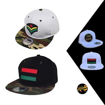 Roots Afro Rasta Reggae Snapback Cap Hat Hip Hop Hiphop Headwear 100% COTTON