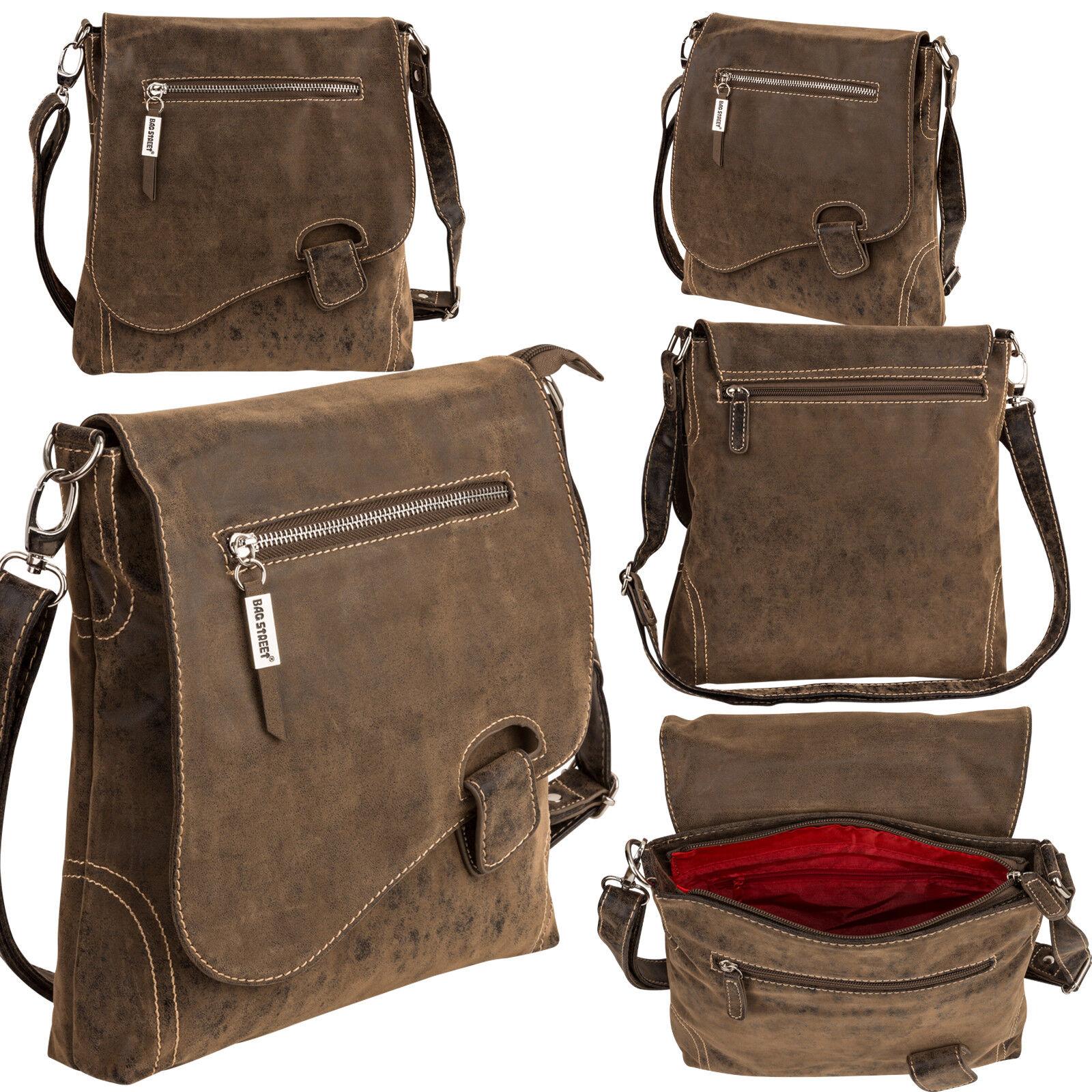 Bag Street Damentasche Umhängetasche Handtasche Schultertasche K2 T0106 Antikbraun
