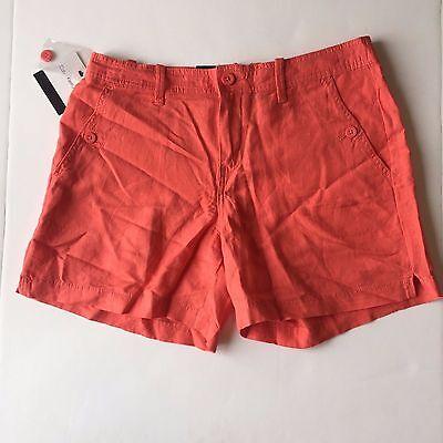 NWT Women's Calvin Klein Jeans Porcelain Rose Linen Shorts, Size 12