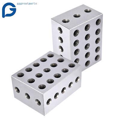 1 Matched Pair Ultra Precision 2-3-4 Blocks 23 Holes .0003 Precision Machinist