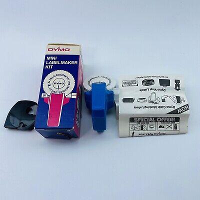 Vintage Dymo Mini Label Maker Blue Handheld Manual Embossing Nib