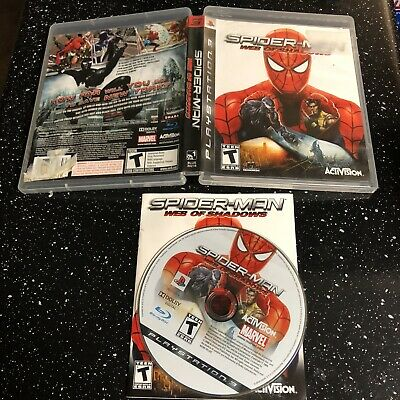 spider man web of shadows Ps3 Cib With Manual Same Day Shipping Cleaned
