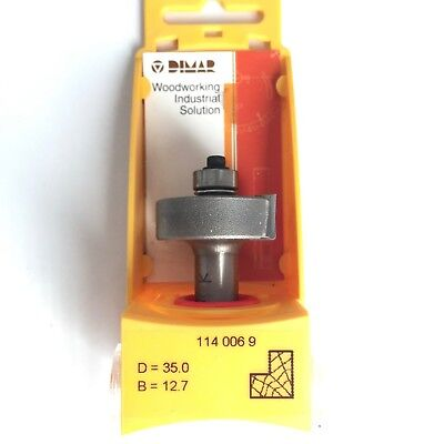 "1/2"" Inch Shank 35 x 12.7mm Carbide Rebate Cutter Router Bits Tenon Lap DIMAR"