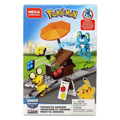 Mega Construx Pokemon Froakie Vs Dedenne Building Set NEW Toys In - Mega Toys