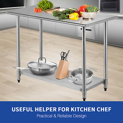 Suncoo24x48 Work Table Food Prep Commercial Stainless Steel Kitchen Restaurant