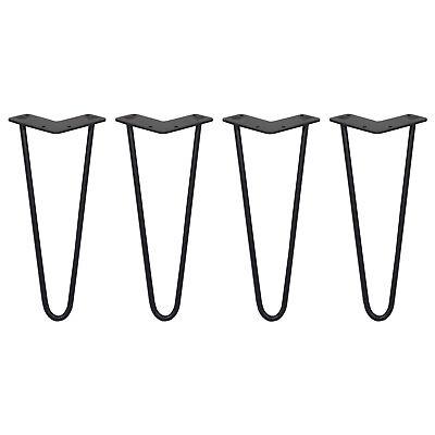 4 Patas de Horquilla para Mesa SkiSki Legs 30,5cm Acero Negro 2...