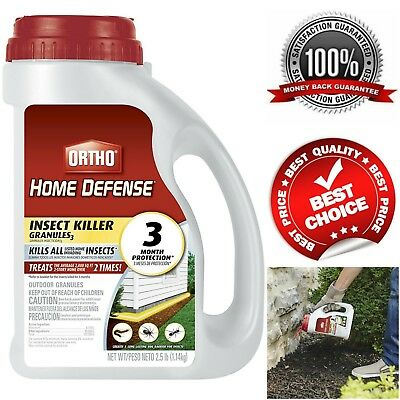Ortho Home Defense Max Insect Killer 2.5 Lb Granules Ants Spiders Pest Control