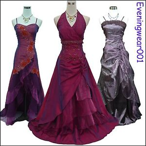 Cherlone-Satin-Purple-Prom-Ball-Formal-Bridesmaid-Wedding-Evening-Gown-Dress