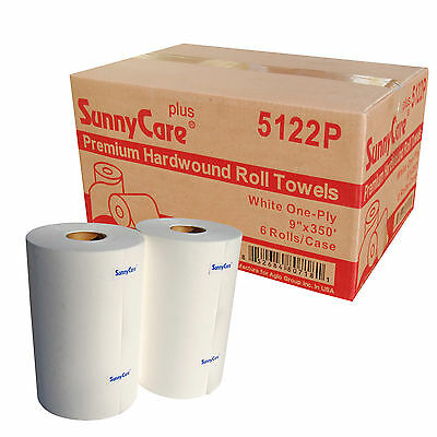 58470 Paper Towel Roll 1-ply 9 Width X 350 Length White Pack Of 6