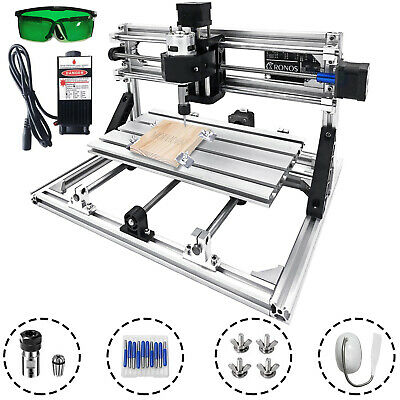 3 Axis Cnc Router Kit 3018 2500mw Laser Head Pcb Woodpvcplistic Milling Rgbl