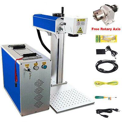 30w Fiber Laser Marking Machine Metal Engraving Engraver Ezcad2 Wrotary Axis