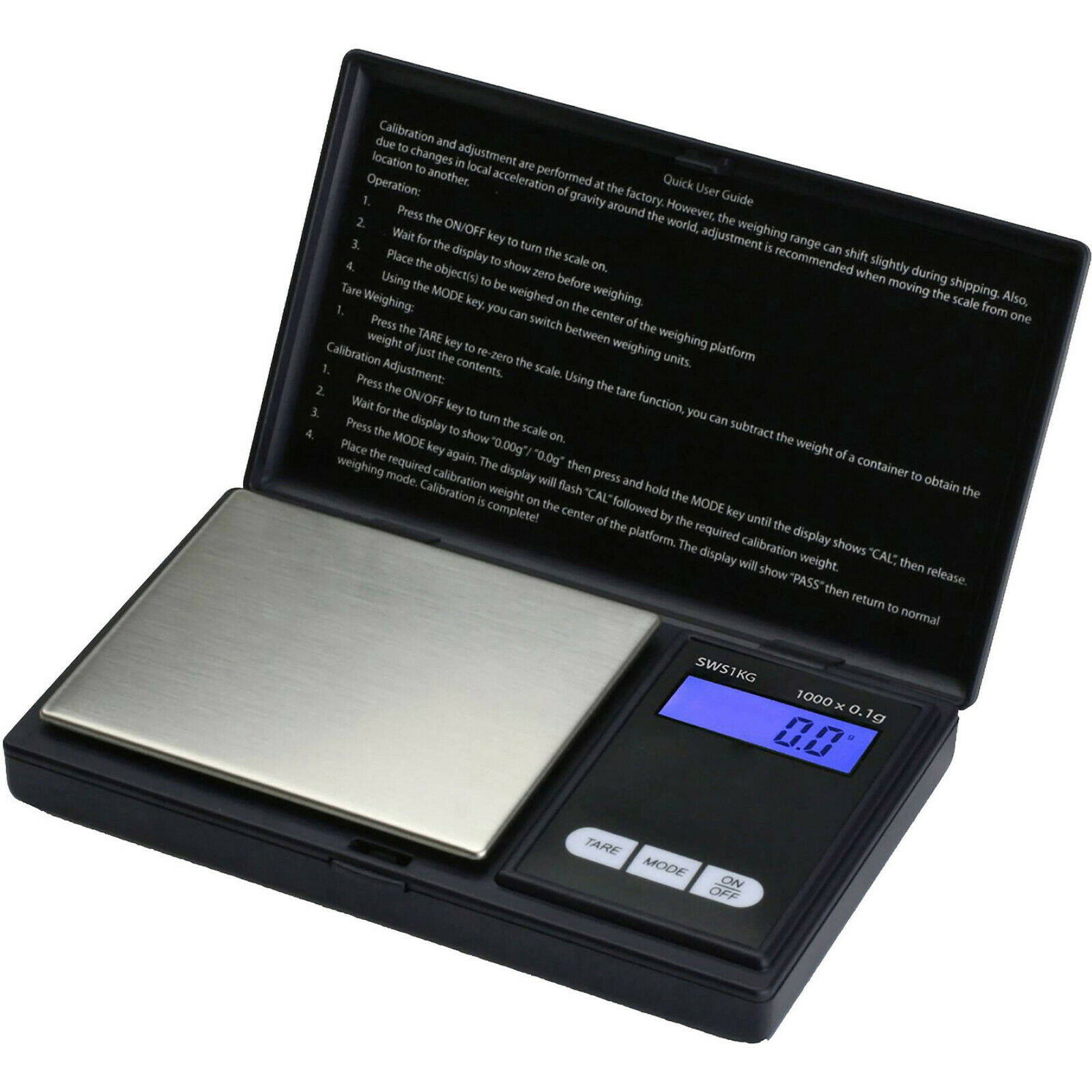 Smart Weigh Scales SWS-1000 Digital Pocket Scale 1000g Capacity- Black Home & Garden