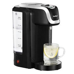 VonShef Instant Hot Water Boiler Dispenser Machine Black 2.5L Maximum 2600W