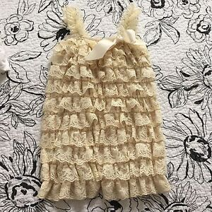 Olivia Rose Baby Girl Lace Romper
