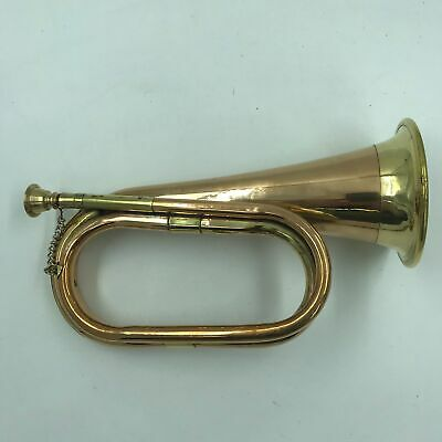 Brass Copper Army Cavalry Trumpet Bugle Retro Musical Instrument, CHARGE!